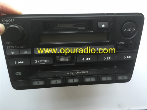 Nissan PN-2411N Clarion In Dash 6 CD changer AM FM cassette radio for Infiniti QX4 2001 car CD player BOSE sound system US Canada Frequency