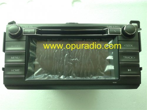 Toyota 86140-0R080 Fujitsu Ten single CD radio 6.1inch display with touch screen for Toyota RAV4 car radio Audio Phone AUX USB 2014 2015