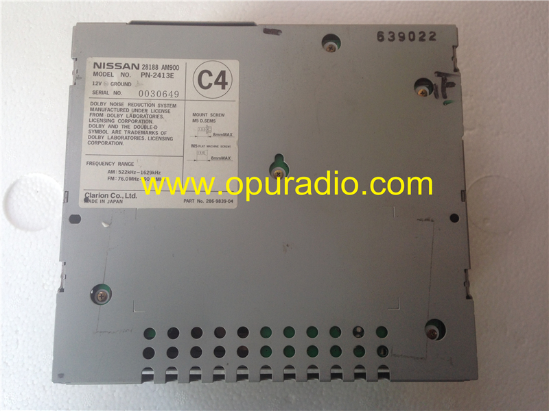 Nissan 28188 Am900 Clarion 6 Cd Changer Head Unit For