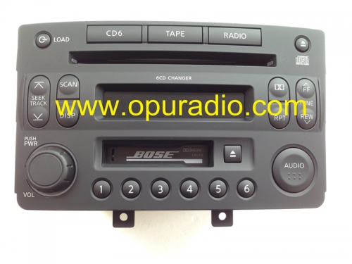 BOSE 6 CD changer Nissan 28188 CF60B for Nissan 350Z car radio PP-2546L clarion 286-6648-03 audio Russian