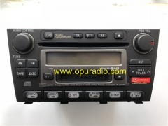 TOYOTA 86120-53100 Fujitsu Ten 6 CD Changer Radio for 2001-2006 Lexus IS200 IS300 AM FM TA Receiver Stereo CD player